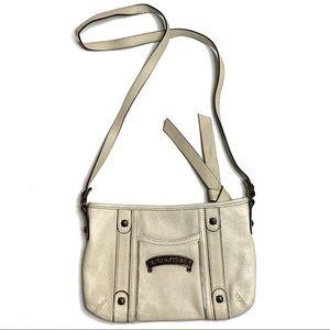 B. MAKOWSKY Genuine Leather Strappy Handbag Purse